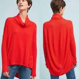 Anthropologie Brushed Cowl Neck Pullover Sweater S
